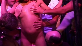 german babes first gangbang party