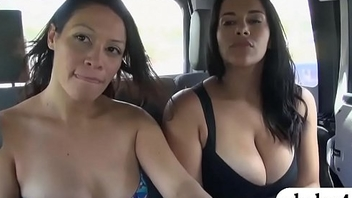 Two women convinced to whit their beamy boobs for cash