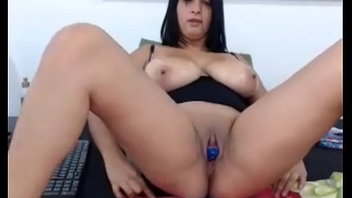 Sexy 18 year old with huge tits jerking on cam - hotwebcamwhores.com