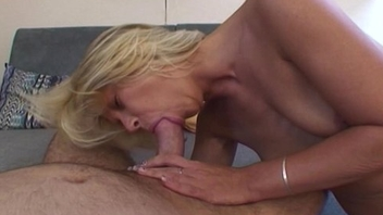 Jism Sprinkled Blonde Mama Breasts Fucked