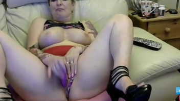 British horny 57 year old mother masturbates