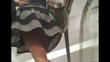 Nice girl escalator upskirt