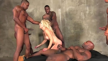 Ashley Fires gangbang pretty black cocks perfectly holes