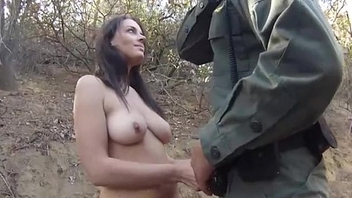 StripSearch And Blowjob For Border Agent