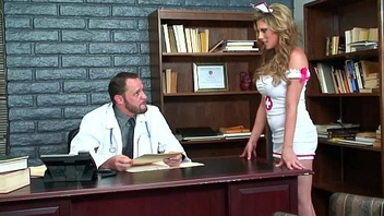 Sexy nurse Charisma Capelli makes her doctor jism
