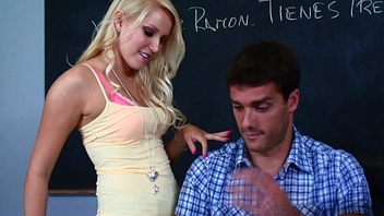 Naughty student Vanessa Cage is very sexually curious